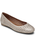 [Cobb Hill by Rockport Maiika Woven Leather Flat Shoe]