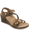 [Aetrex Naya Braided Quarter Strap Wedge Sandal]