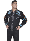 [Scully Mens Men's Phoenix Embroidered Shirt]