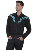 [Scully Mens Men's Legends Scroll Embroidered Shirt]