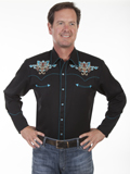 [Scully Mens Legends Fleur Stud Embroidered Shirt]