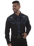 [Scully Mens Legends Cross Embroidered Shirt]