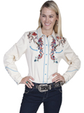 [Scully Ladies Scully Ladies Legends Colorful Horses Embroidered Shirt]
