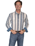 [Scully Scully Men's Signature Series Cotton Stripe Western Shirt]
