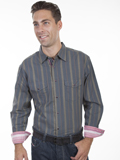 [Scully Scully Men's Signature Series Dobby X Stripe Cotton Shirt]