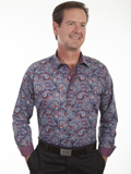 [Scully Scully Men's Top Shelf Paisley Cotton Shirt]