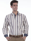 [Scully Scully Men's Signature Series Dobby Stripe Cotton Shirt]
