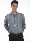 [Scully Scully Men's Signature Series Stripe Cotton Shirt]