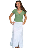 [Scully Ladies Scully Cantina Collection A-Line Cotton Skirt]