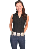 [Cantina by Scully Scully Cantina Sleeveless Blouse with Point Collar]