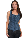 [Cantina by Scully Scully Cantina Lace-Up Sleeveless Blouse]