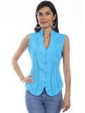[Cantina by Scully Scully Cantina Sleeveless Blouse with Band Collar]