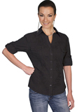 [Scully Ladies  - Scully Cantina 3/4 Sleeve Button Front Blouse]