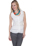 [Cantina by Scully Scully Cantina Sleeveless Crochet Panel Tank Top]
