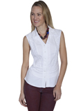 [Cantina by Scully Sleeveless Button Front Blouse]