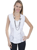 [Cantina by Scully Sleeveless Lace Panel Top]