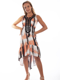 [Cantina by Scully Crochet Neck Tie Dye Dress]