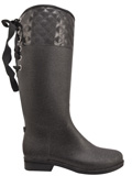 [Dav Women's Quilted Victoria Rain Boot]