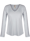 [Aventura Clothing Roswell Organic Cotton Blend Crochet Sleeve Top]