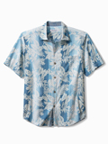 [Tommy Bahama� Bluewater Stripe Camp Shirt]