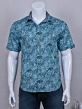 [Tommy Bahama� Jungle Shade Stretch Cotton Blend Shirt]