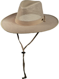 [Dorfman Pacific Men's Stetson Mesh Safari Hat]