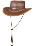 [Dorfman Pacific Men's Stetson Mesh Covered Safari Hat]