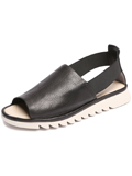 [The FLEXX� Shore Line Italian Leather Elastic Strap Sandal]