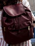 [Victoria Leather Sousa Backpack with Three Outside Pockets]