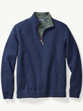 [Tommy Bahama� Men's New Flip Side Pro Reversible Half-Zip Sweatshirt]
