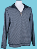 [Tommy Bahama� Men's Flip Side Pro Stripe Reversible Half-Zip Sweatshirt]