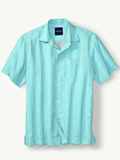 [Tommy Bahama� Men's Zaldera Stripe Camp Shirt]