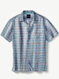 [Tommy Bahama� Men's Paradigm Plaid Linen Shirt]
