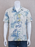 [Tommy Bahama� Men's Tropical Falls Silk Camp Shirt]