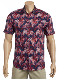 [Tommy Bahama� Fenua Fronds Pucker Camp Shirt]
