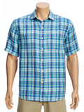 [Tommy Bahama� The Switch Up Plaid Camp Shirt]