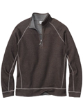 [Tommy Bahama� Men's Island Modern Fit Reversible Bob Twillin' Half-Zip Sweatshirt]