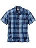 [Tommy Bahama� Men's Indi-Bleu Yarn Dyed Cotton Shirt]