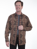 [Tonto Rim by Scully Men's Aztec Weave Cotton Overshirt]
