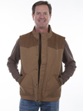 [Tonto Rim by Scully Men's Canvas Vest with Quilted Lining]