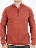 [Zenfari� Men's Tiger Eye Half Zip Cotton Sweater]