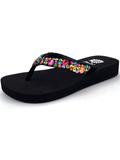 [Yellow Box Kid's Twiggy II Rainbow Thong Sandal]