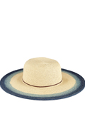 [San Diego Hat Co Women's Natural Sumbrim with Painted Color Pop Hat]