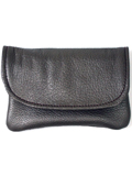 [Victoria Leather Flap Wallet]