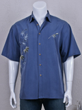 [Bamboo Cay Flying Bamboos Embroidered Shirt]
