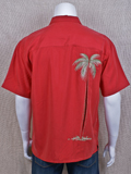 [Bamboo Cay Back Hidden Palm Embroidered Shirt]