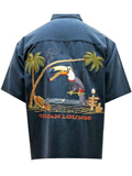 [Bamboo Cay Toucan Lounge Embroidered Shirt]