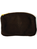 [Victoria Leather Zip Top Coin Purse]