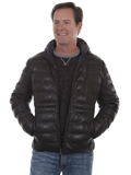 [Mens Scully Premium Lamb Reversible Ribbed Hooded Jacket]