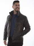 [Mens Scully Washed Lamb Double Collar Leather Jacket]